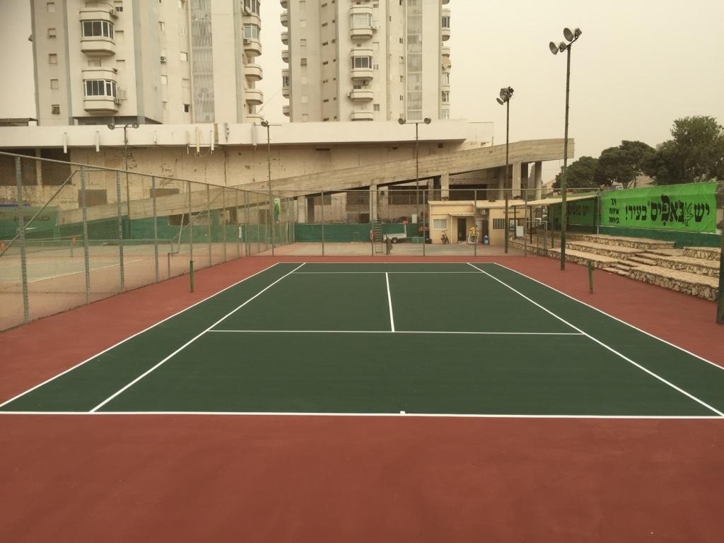 חידוש מגרש טניס בראשון לציון